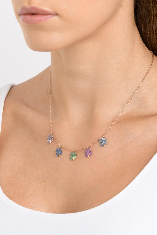 Kessaris-Diamond Lucky Charm Necklace