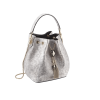 Bulgari Serpenti Forever Bucket Bag White Agate Metallic