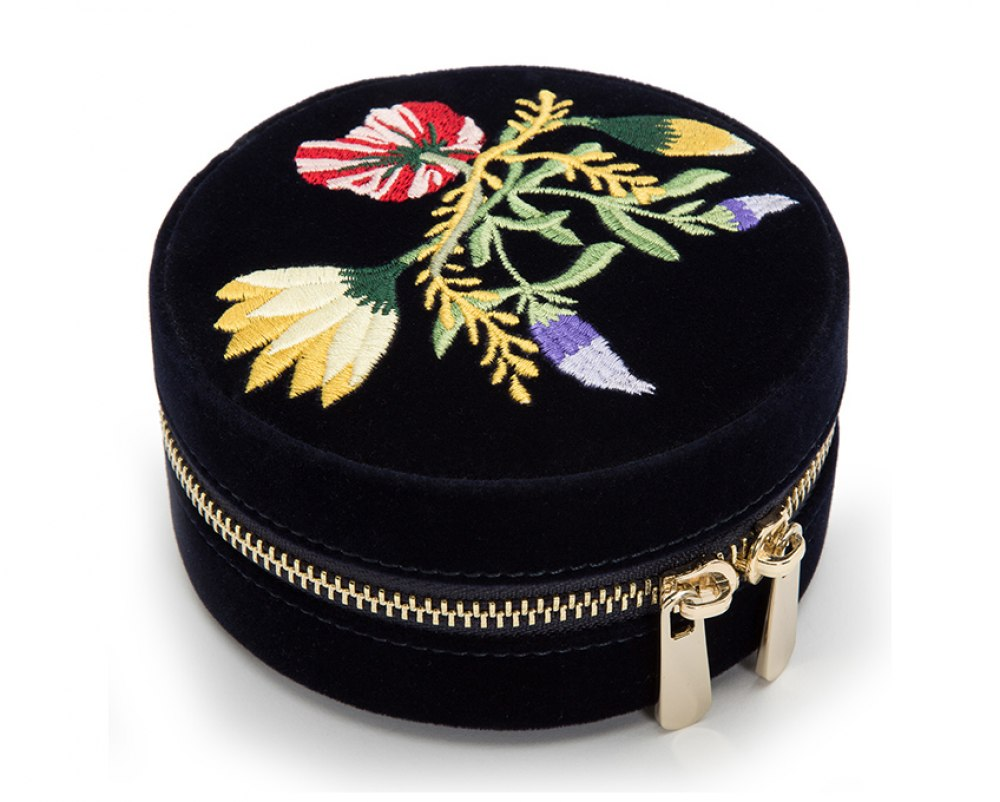 WOLF Zoe Travel Round Jewelry Case 393216