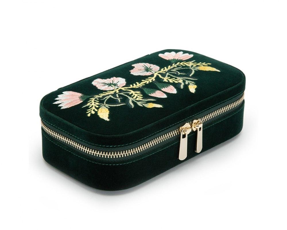 WOLF Zoe Travel Zip Jewelry Case 393312