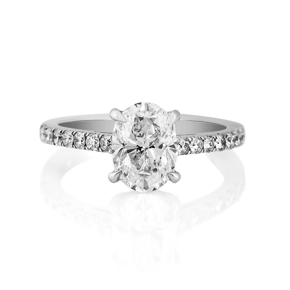 KESSARIS Solitaire Oval Diamond Ring DAP170057