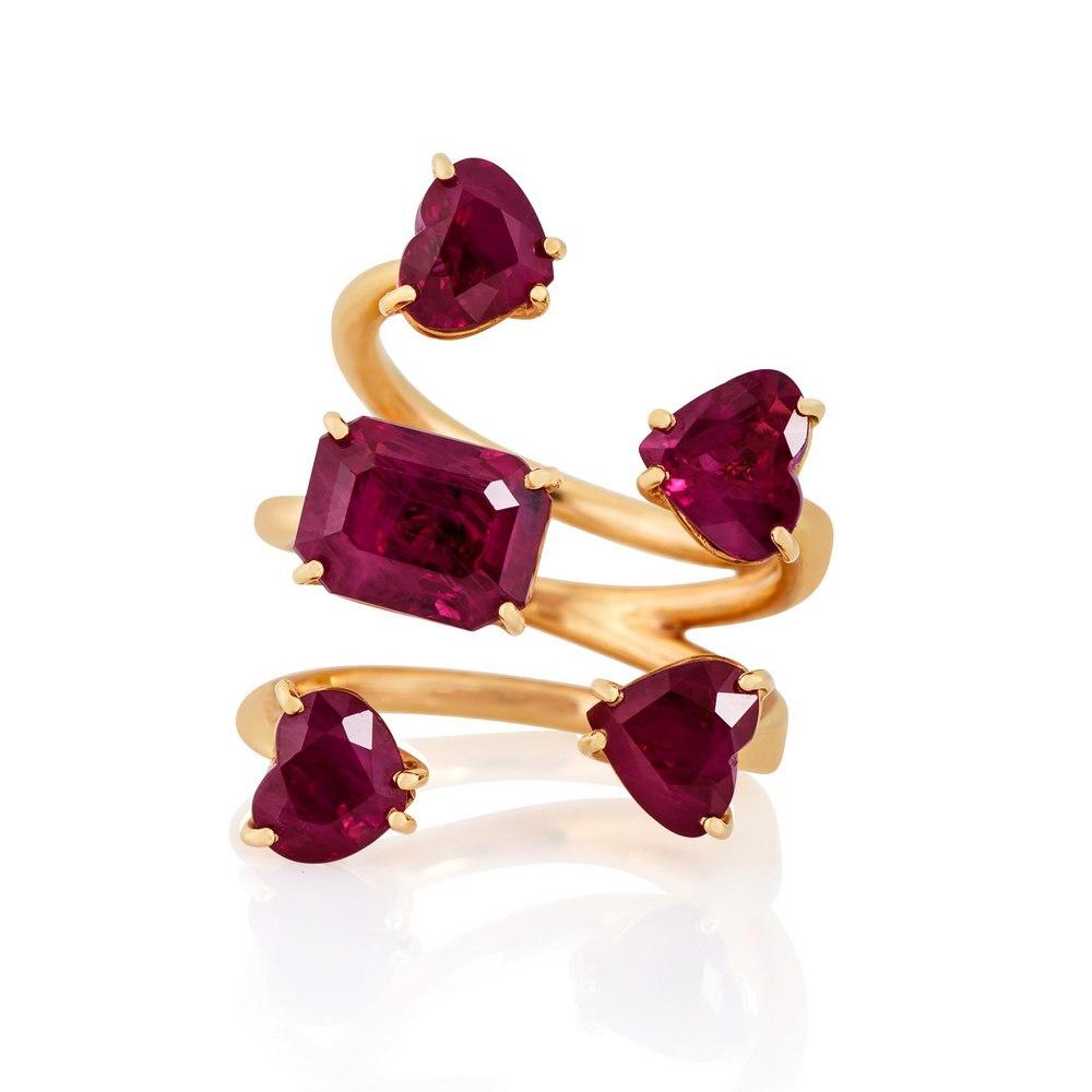 KESSARIS Heart Ruby Ring DAP161898