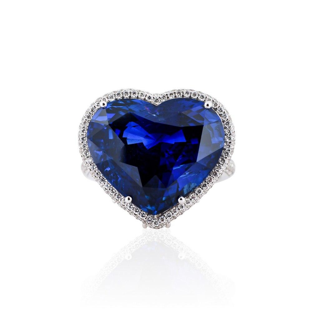 KESSARIS Heart Sapphire Ring DAE133457