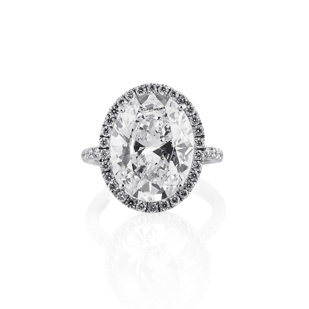 KESSARIS Solitaire Oval Diamond Ring DAP141842