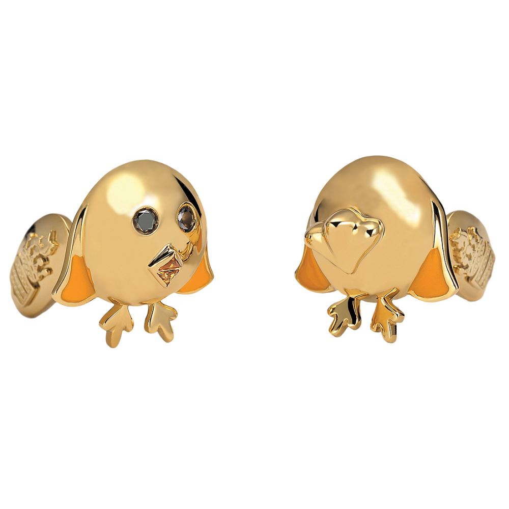 DE GRISOGONO Chicken Cufflinks 70046_01