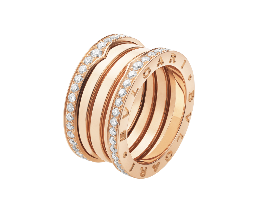 BULGARI B.zero1 four-band ring AN856293