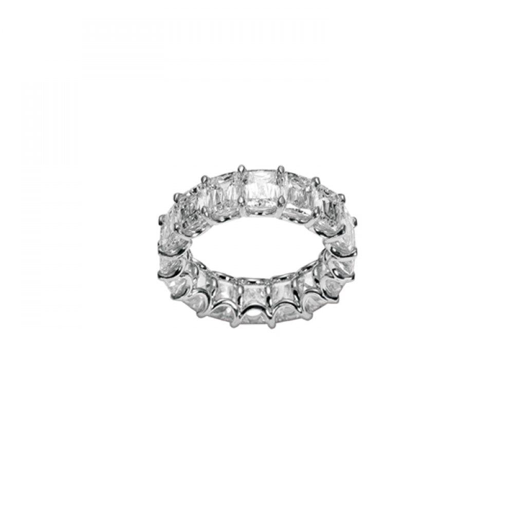 KESSARIS Diamond Eternity Emerald Cut Ring BEP93309