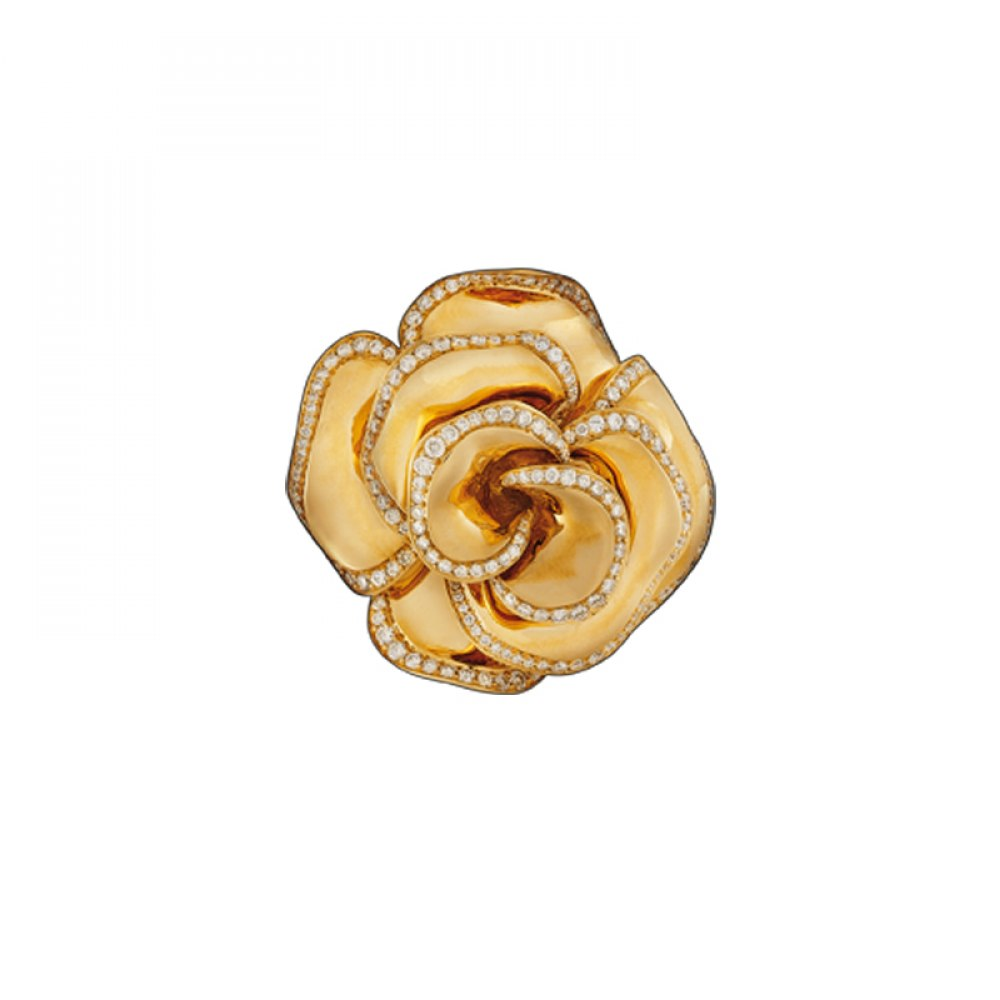 KESSARIS Pink Gold & Diamond Flower Ring DAE82607