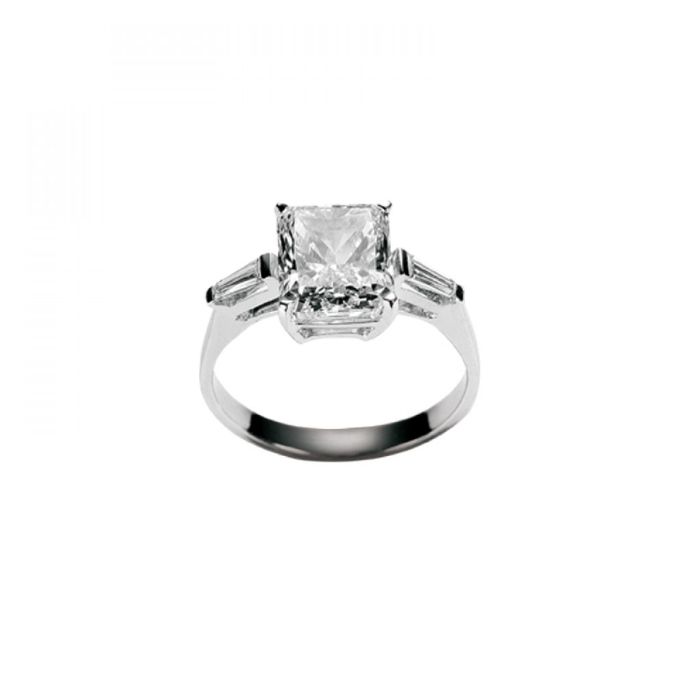 KESSARIS Solitaire Princess Diamond Ring M2873