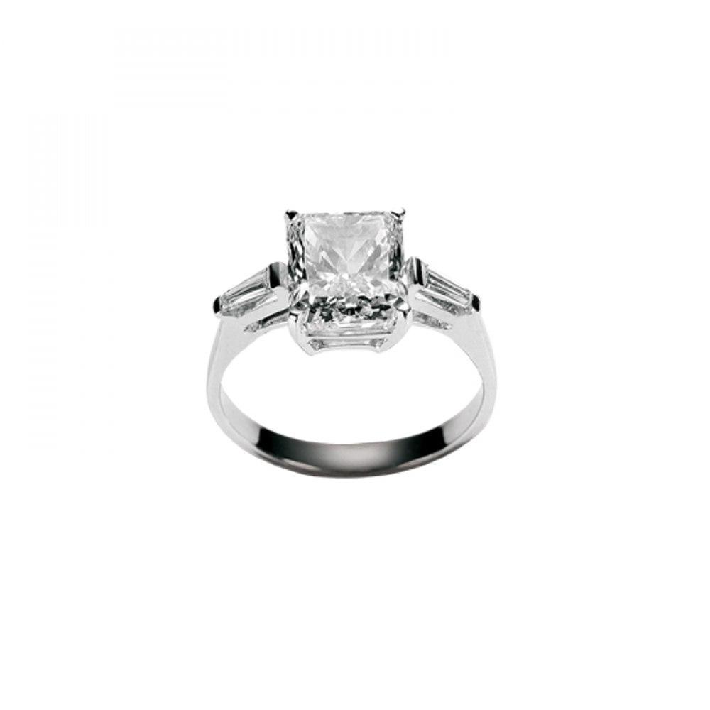 KESSARIS Solitaire Princess Diamond Ring M2873