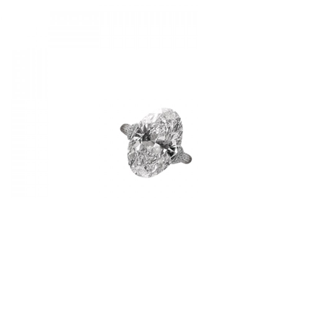 KESSARIS Solitaire Oval Diamond Ring DAP92820