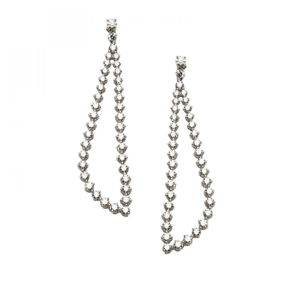 KESSARIS Geometric Diamond Drop Earrings SKP113017