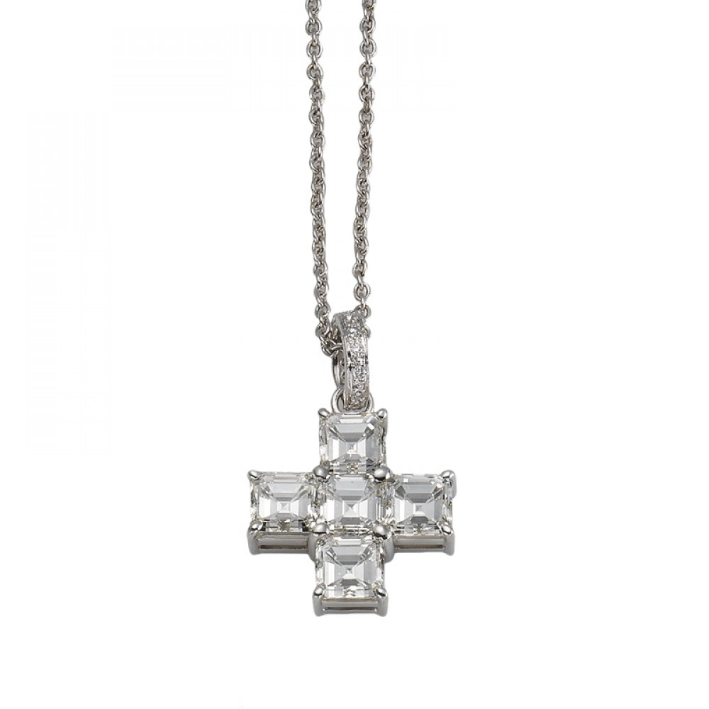 KESSARIS Diamond Cross Pendant STP103399