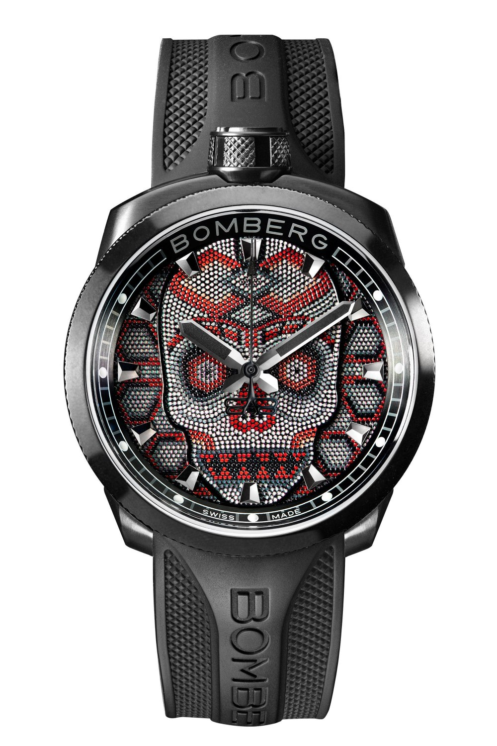 BOMBERG BOLT-68 Skull Pearl 45mm Red BS45H3PBASKP_23