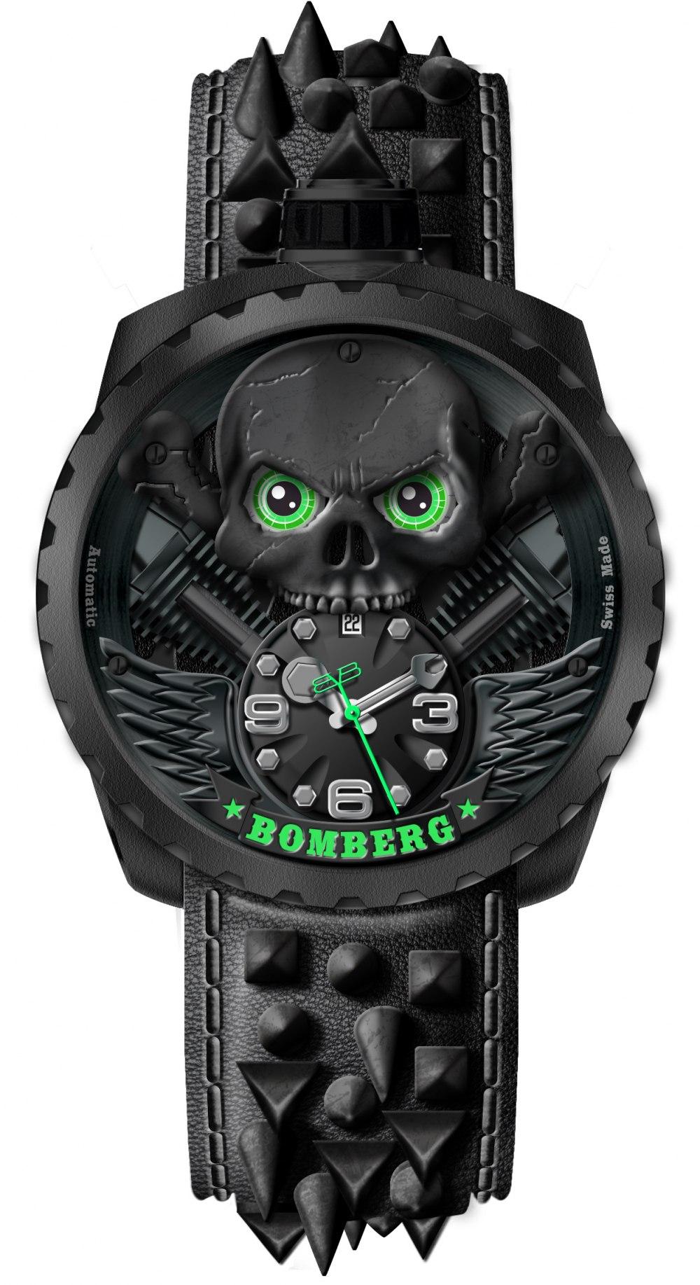 BOMBERG BOLT-68 Skull Rider Black BS47APBA056_13