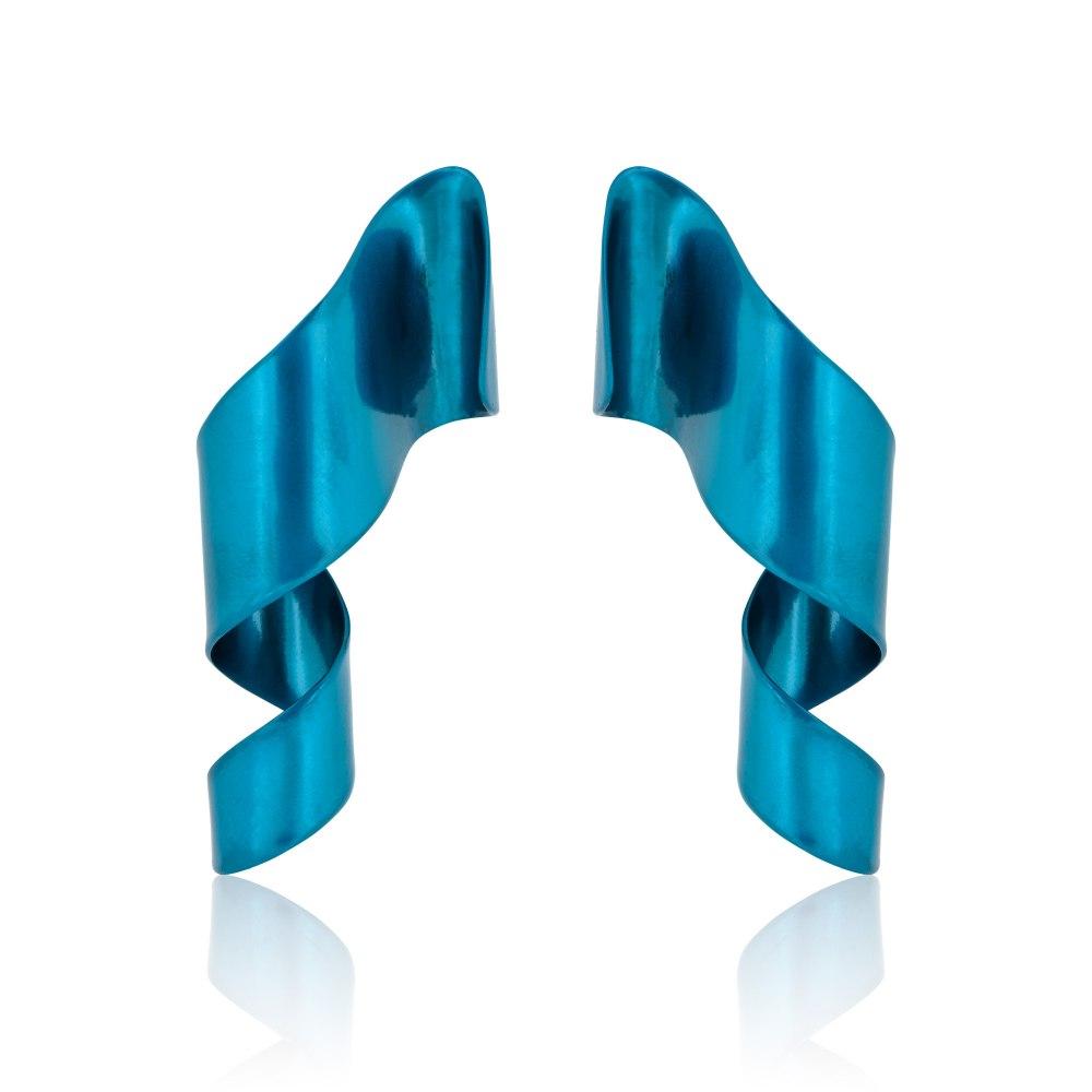 ANASTASIA KESSARIS Cosmic Feather Turquoise Titanium Earrings A.ER.AP0071-TRQ1