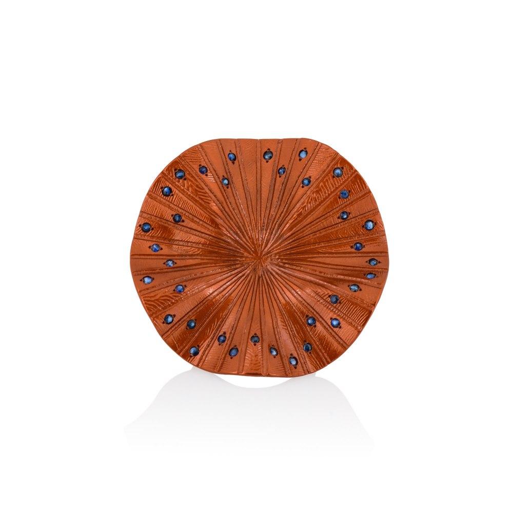 ANASTASIA KESSARIS Disco Clique Orange Titanium Sapphire Ring A.RG.AP0082-ORG1