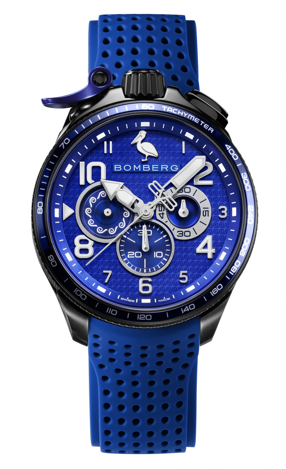 BOMBERG BOLT-68 Racing Blue Greece Limited Edition BS45CHPBA.059-10.10