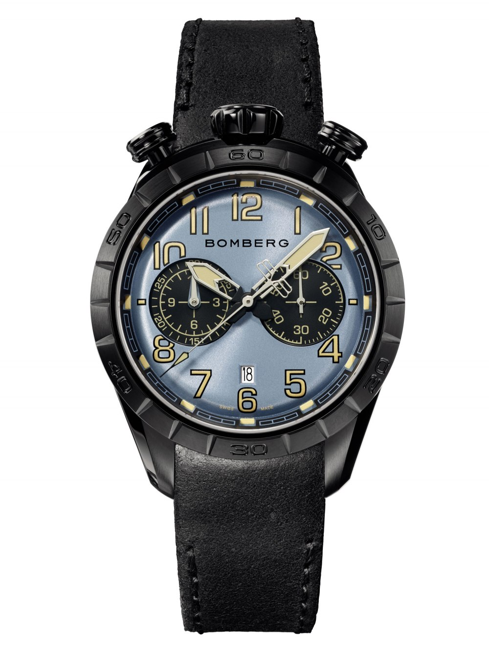 BOMBERG BB-68 Dark Blue Chronograph Gent 44mm NS44CHPBA.208.9