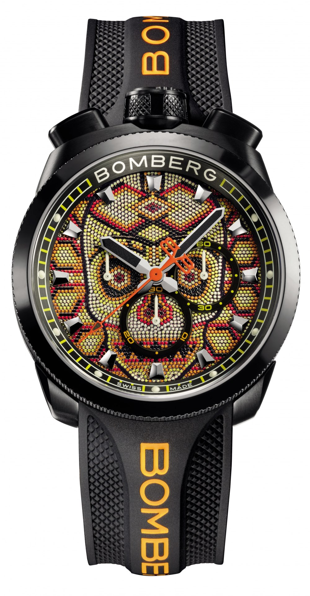 BOMBERG BOLT-68 Skull Pearl Yellow Special Edition Gent 45mm BS45CHPBA.SKP-4.3