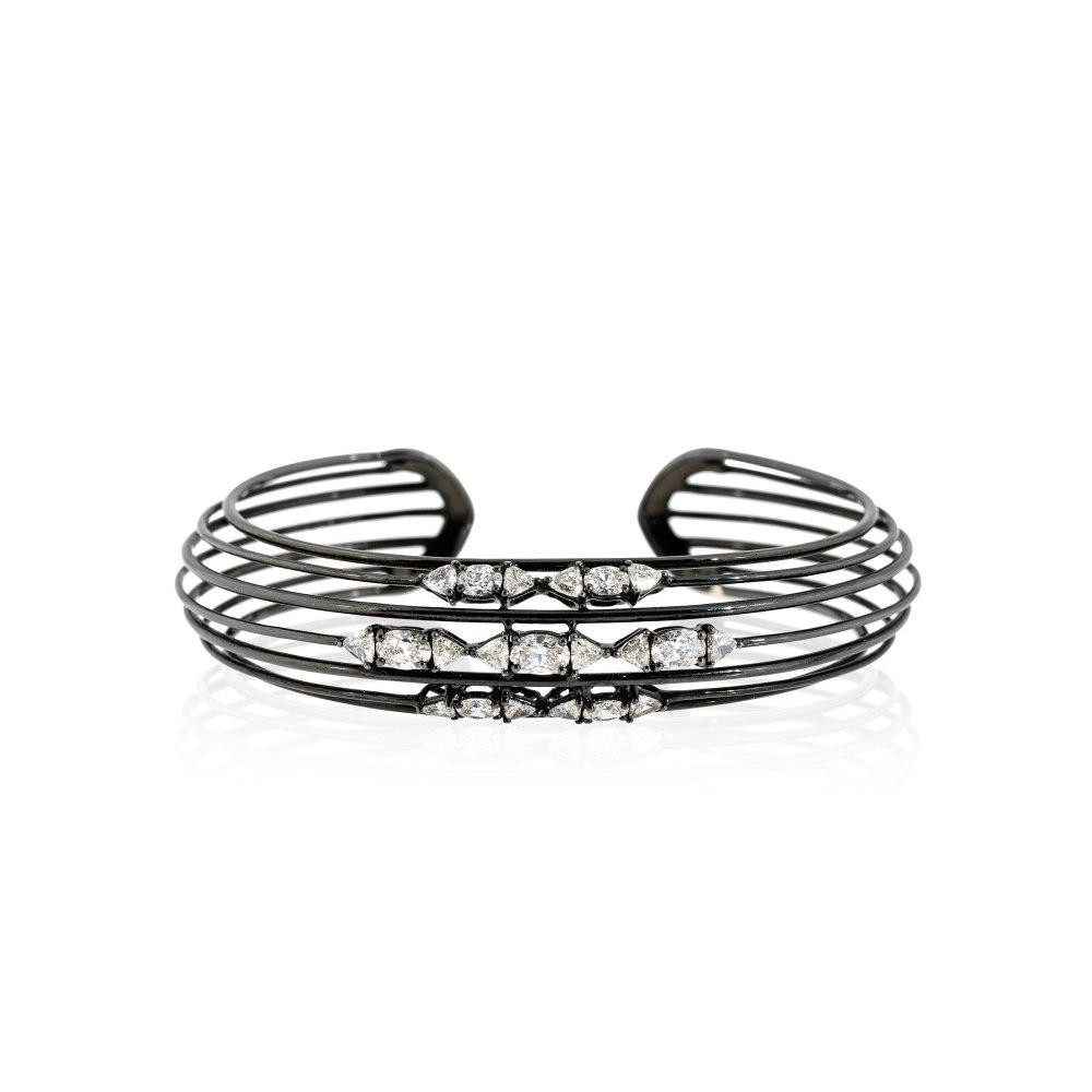 ETHO MARIA Black Rhodium Gold Diamond Bracelet BRE170778
