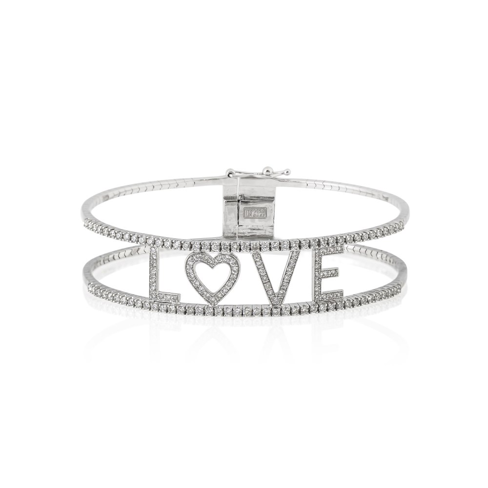 KESSARIS-Love Diamond Bangle Bracelet