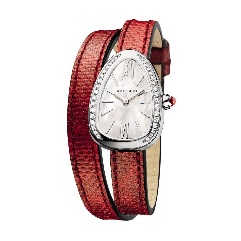 BULGARI Serpenti Skin with Diamonds 32mm 102920