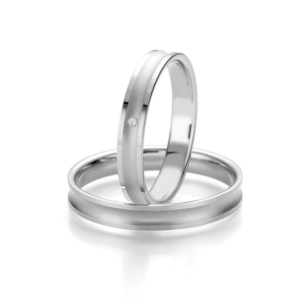 KESSARIS Diamond Concave Wedding Bands CK01