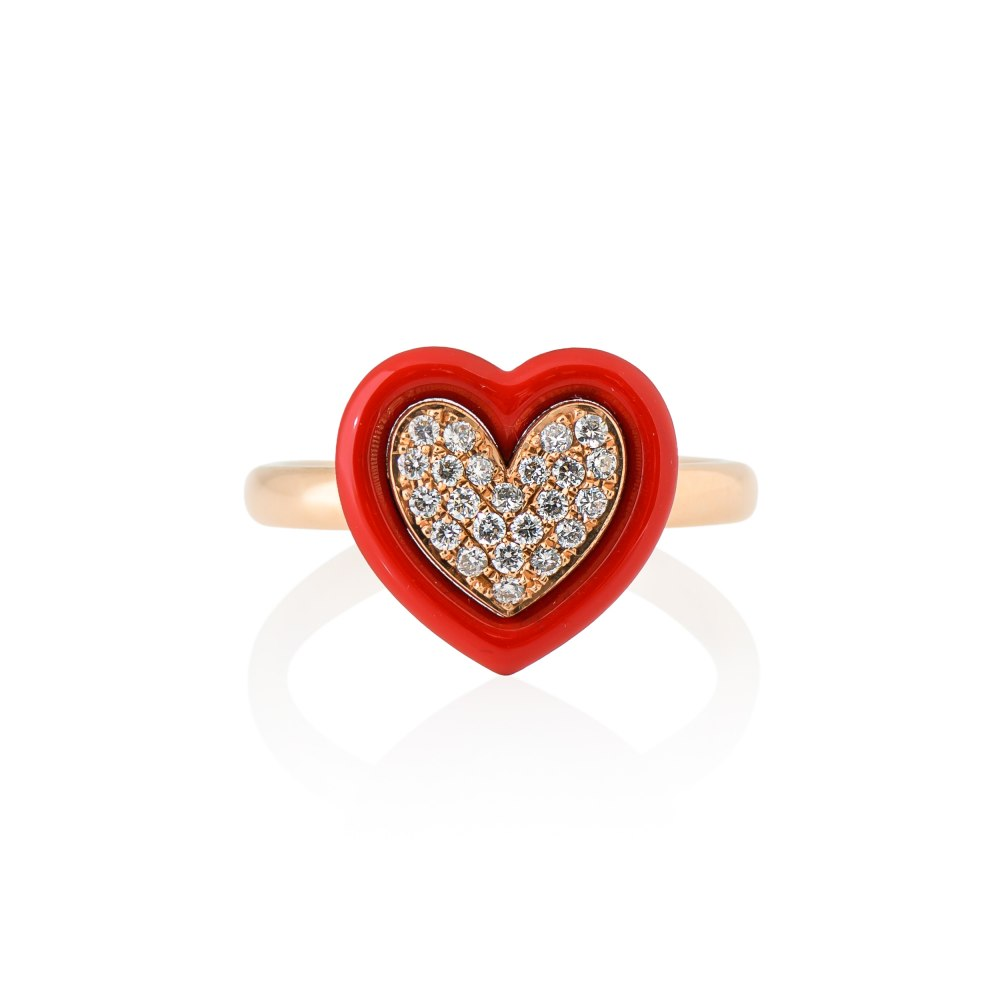KESSARIS Red Heart Diamond Ring DAE200937