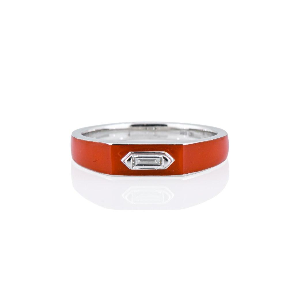 KESSARIS Minimal Baguette Diamond Ring DAE201087