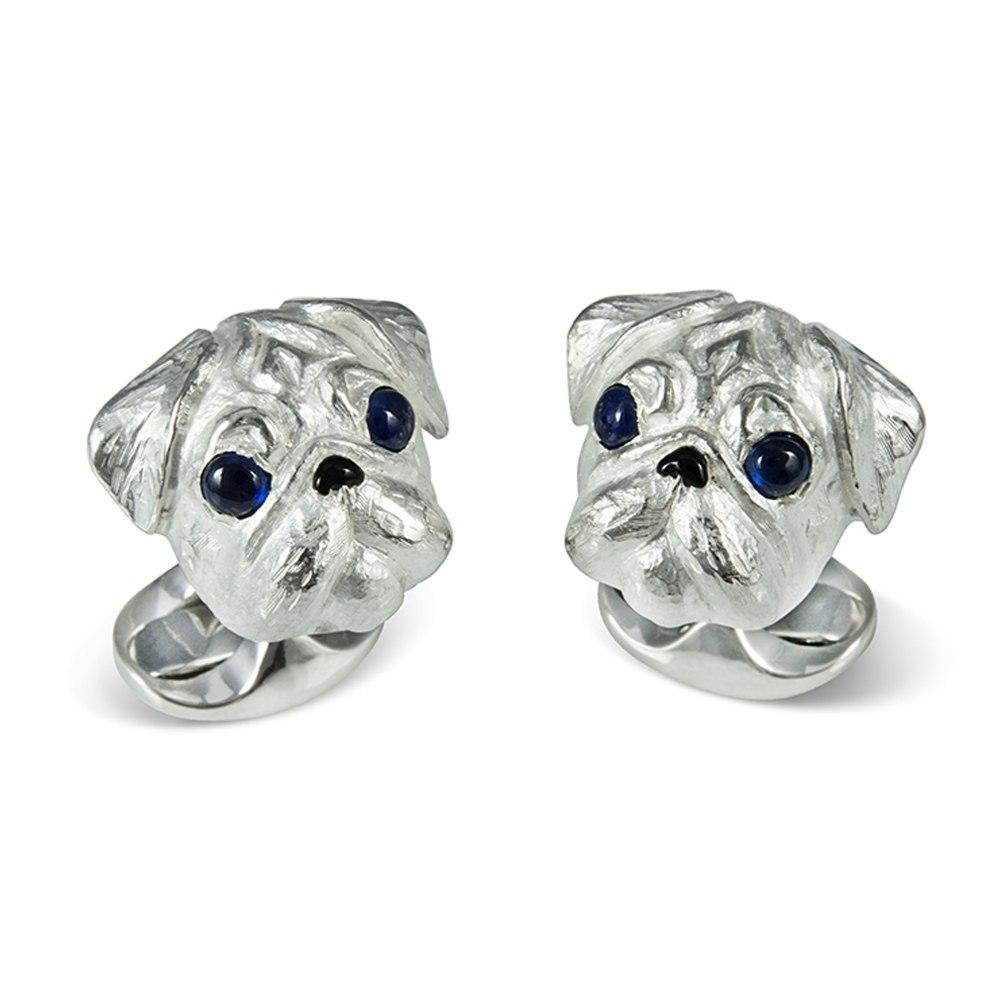 DEAKIN & FRANCIS Sterling Silver Pug Dog Cufflinks C1026X0004