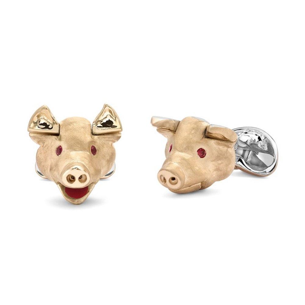 DEAKIN & FRANCIS Sterling Silver Pig Head Cufflinks C1086X0001