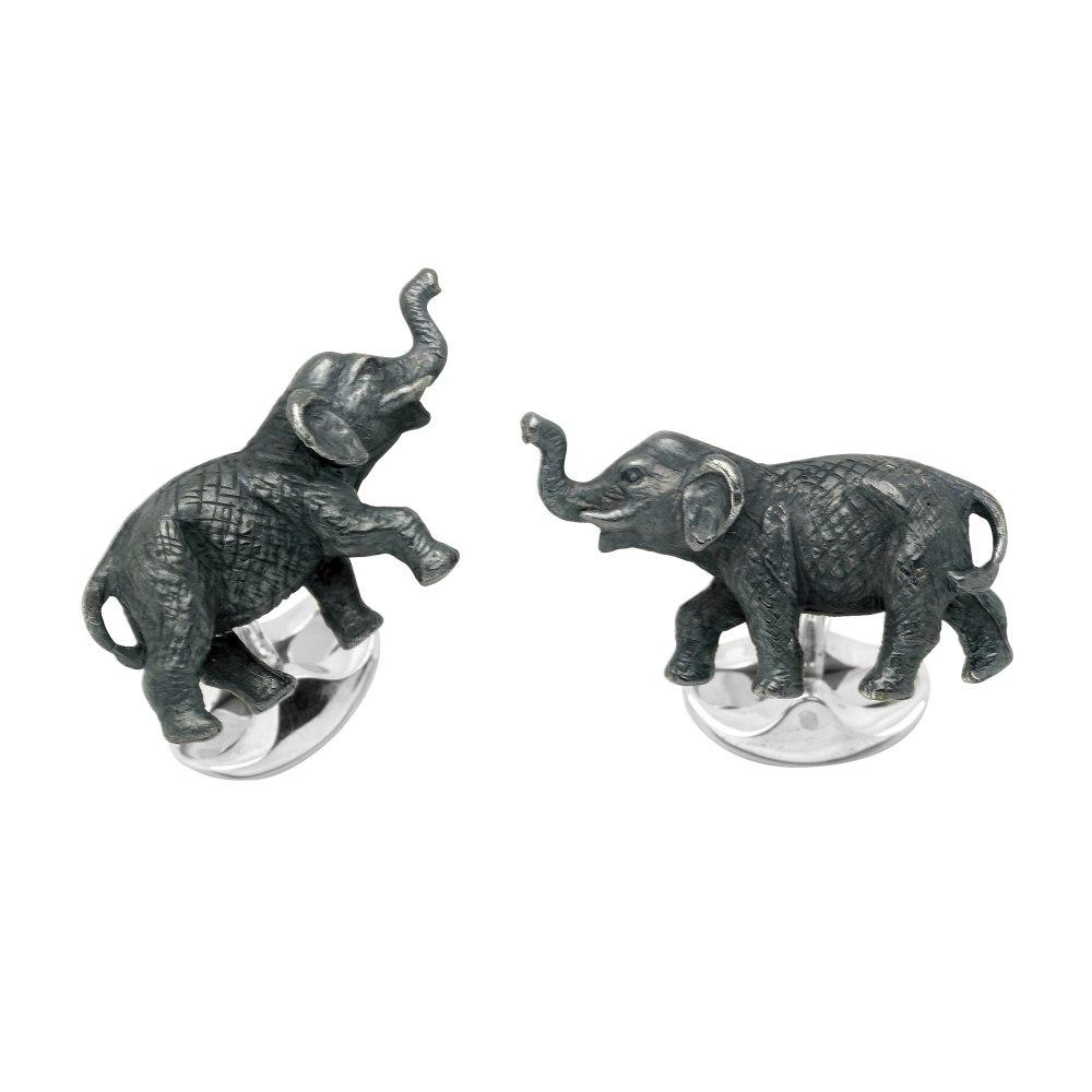 DEAKIN & FRANCIS Sterling Silver Elephant Cufflinks C1683X0001