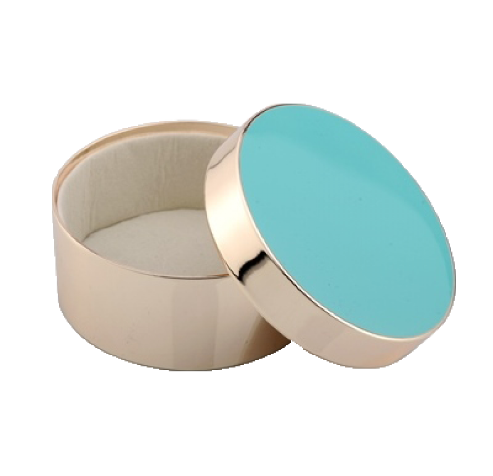 ADDISON ROSS Turquoise Round Jewelry Box BX1100