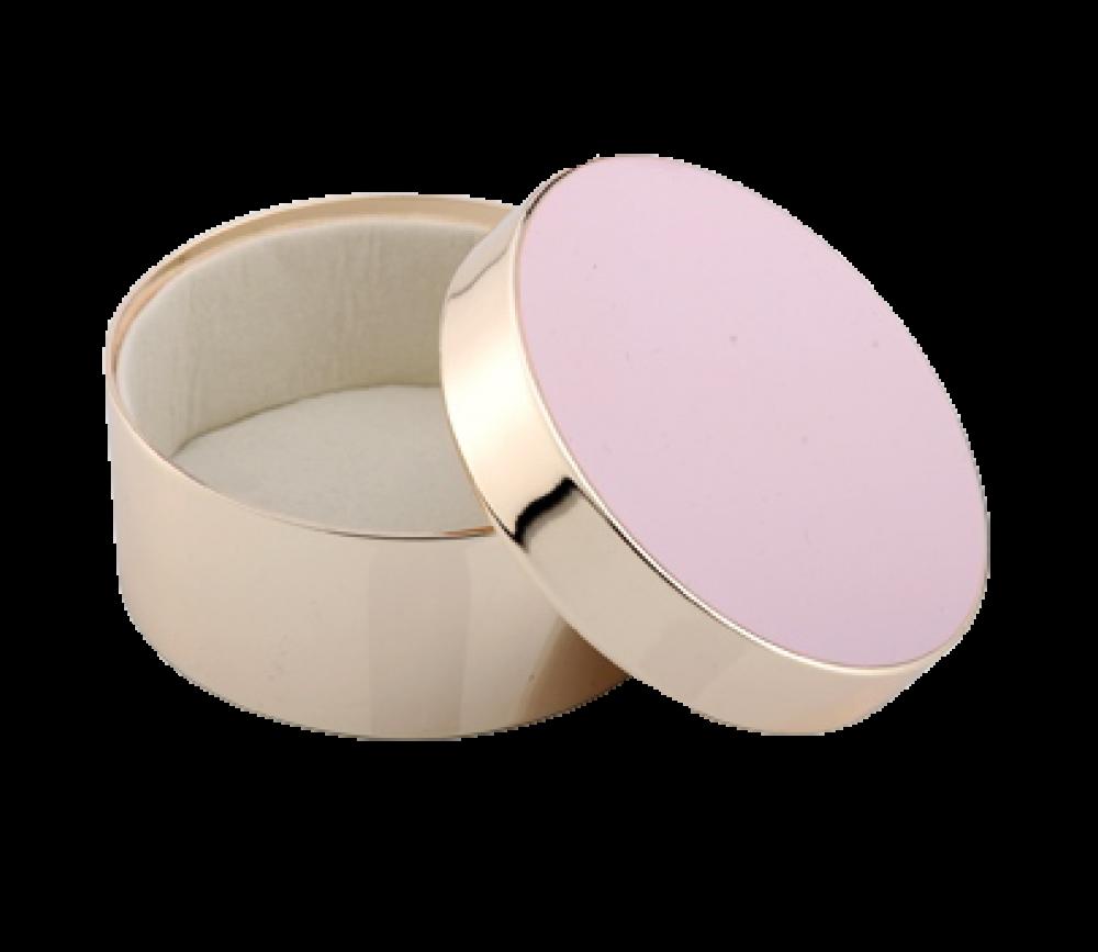 ADDISON ROSS Pink Round Jewelry Box BX1103