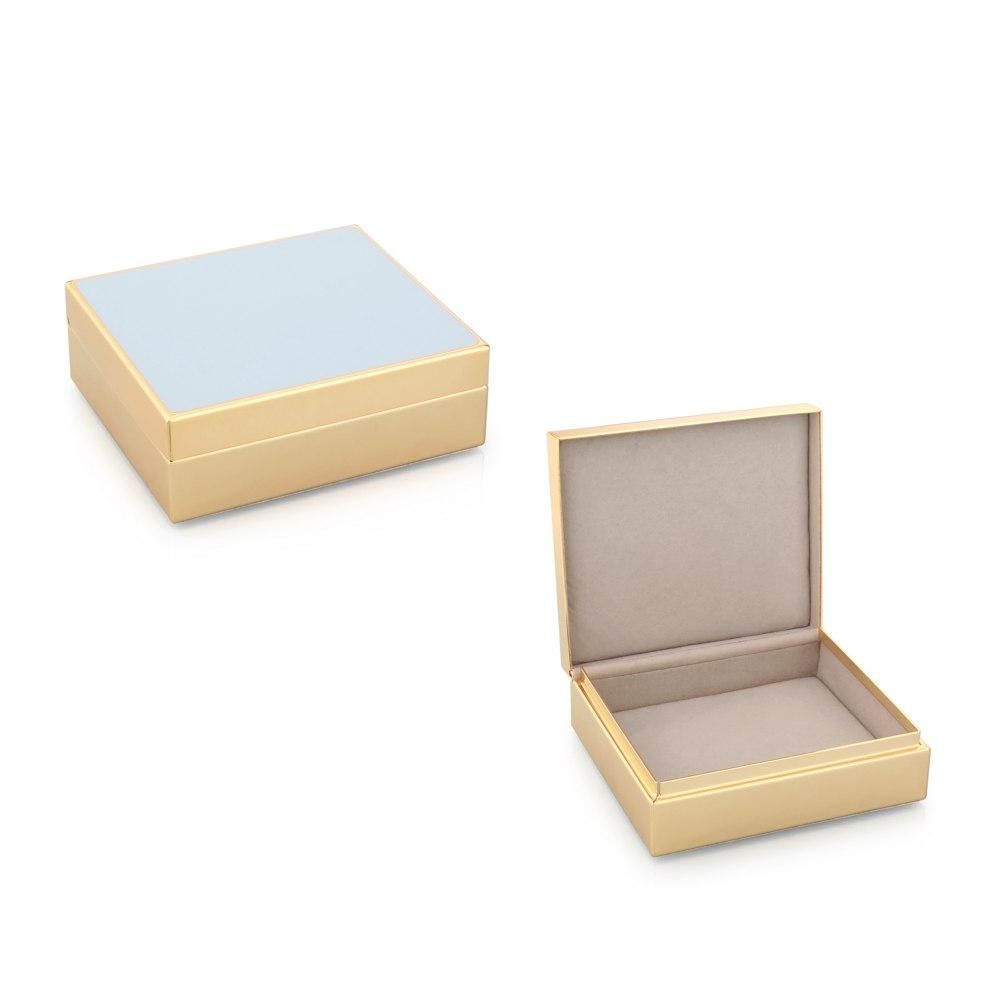 ADDISON ROSS Powder Blue Jewelry Box BX1013