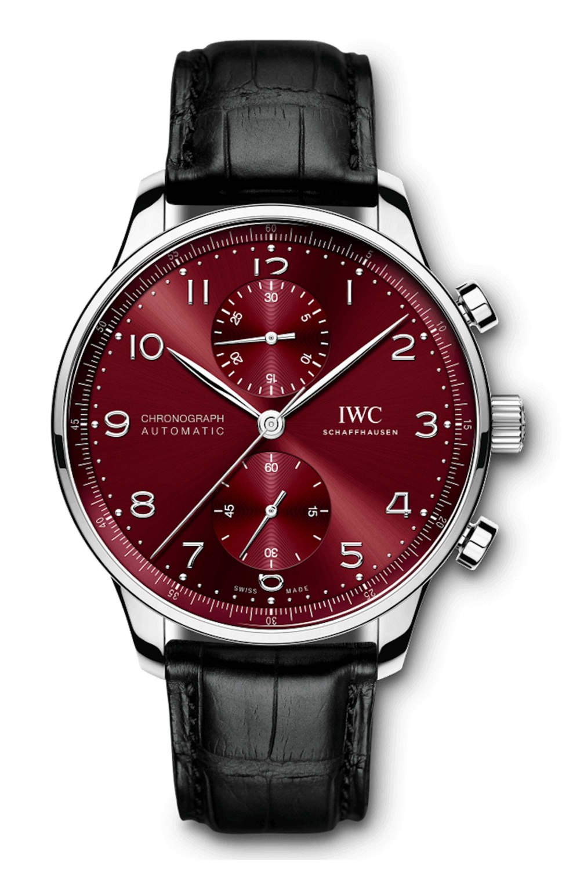 IWC SCHAFFHAUSEN Portugieser Chronograph Burgundy Dial IW371616