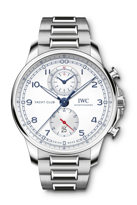 IWC SCHAFFHAUSEN Portugieser Yacht Club Chronograph Silver-Plated Dial IW390702