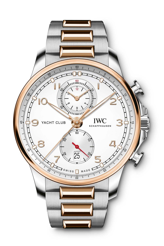 IWC SCHAFFHAUSEN Portugieser Yacht Club Chronograph Silver Dial & Two Tone Strap IW390703