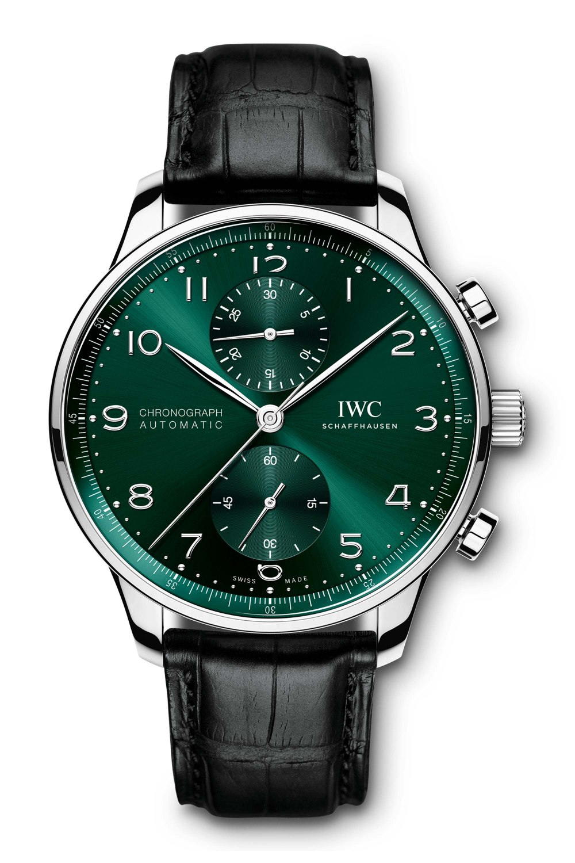 IWC SCHAFFHAUSEN Portugieser Chronograph Green Dial IW371615