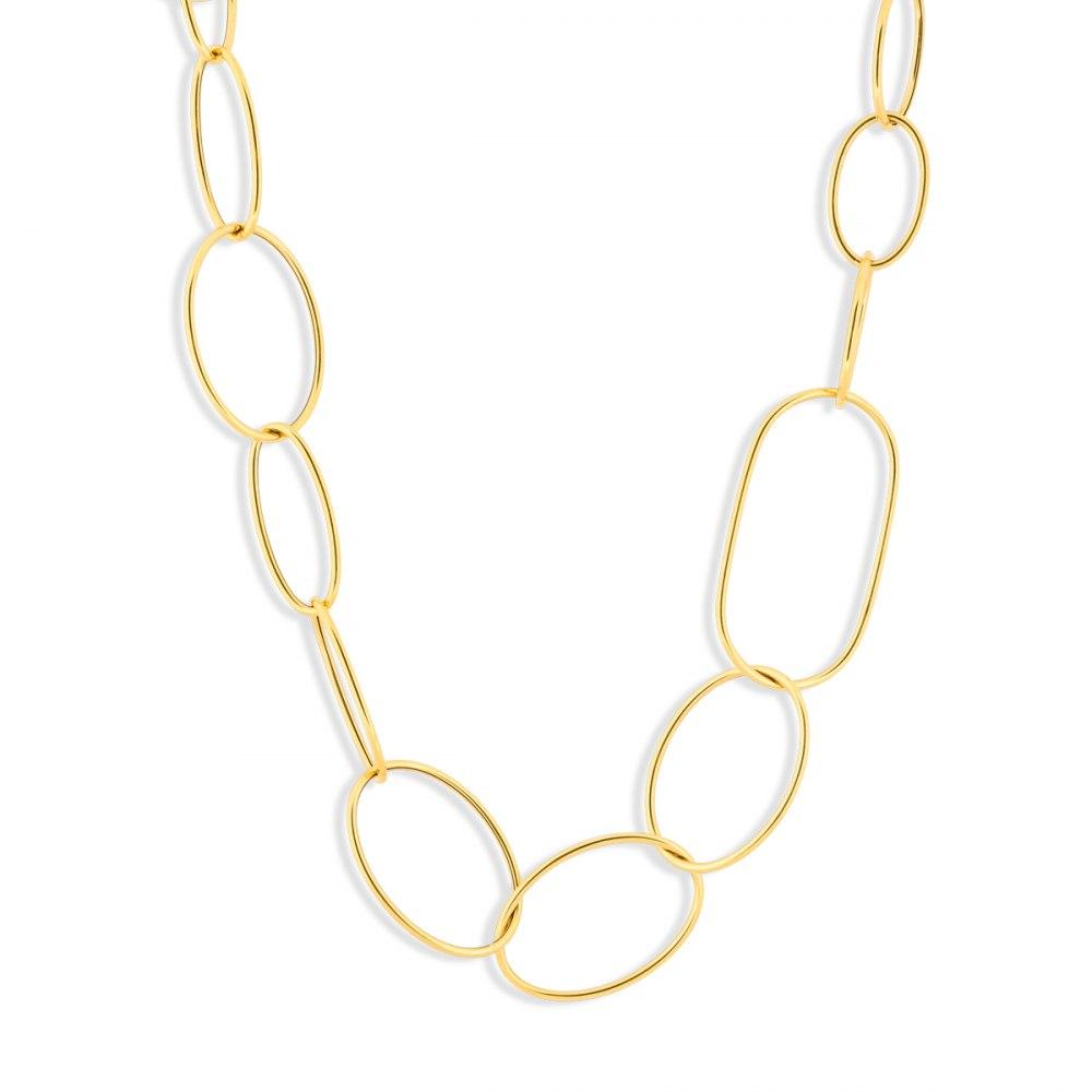 KESSARIS Oval Links Yellow Gold Necklace KOP103764