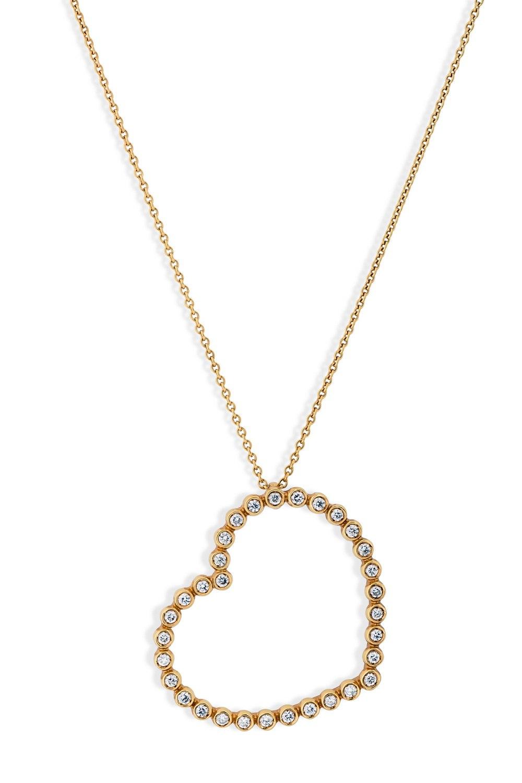 KESSARIS Heart Diamond Pendant Necklace KOE72646