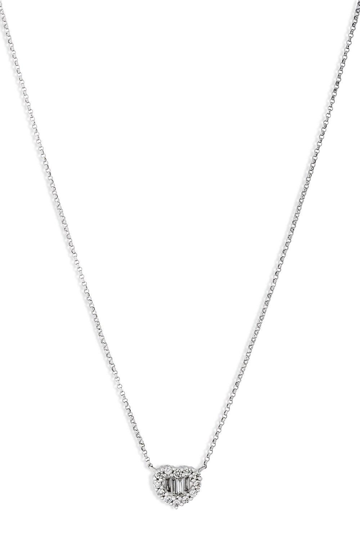 KESSARIS Heart Diamond Cluster Pendant Necklace KOE161526