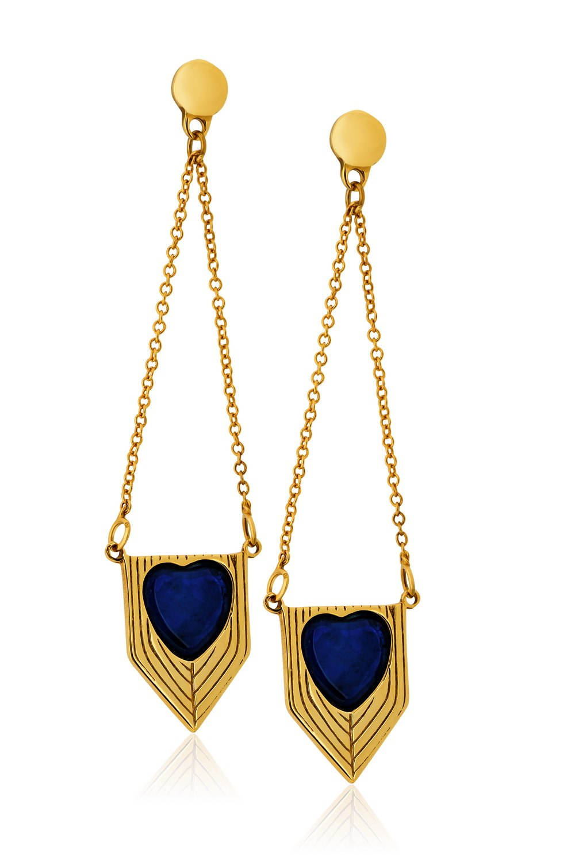 ANASTASIA KESSARIS Heart earrings SKE171302