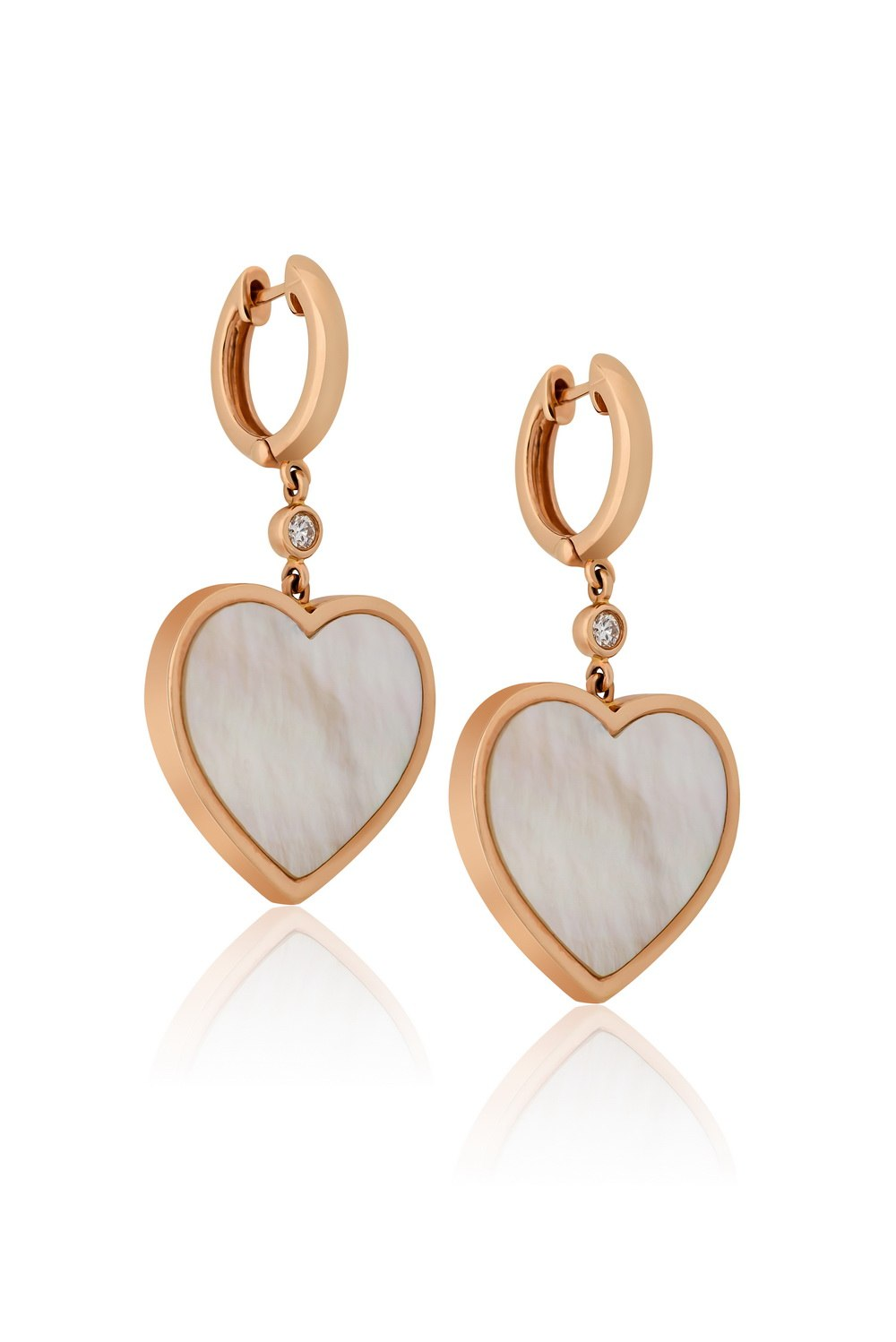 KESSARIS Heart Mother of Pearl Earrings SKE161404