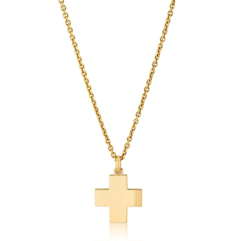 KESSARIS Gold Cross Pendant STP150085