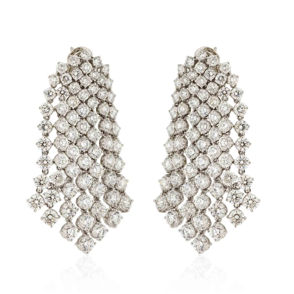 KESSARIS Diamond Rainfall Earrings SKE75603
