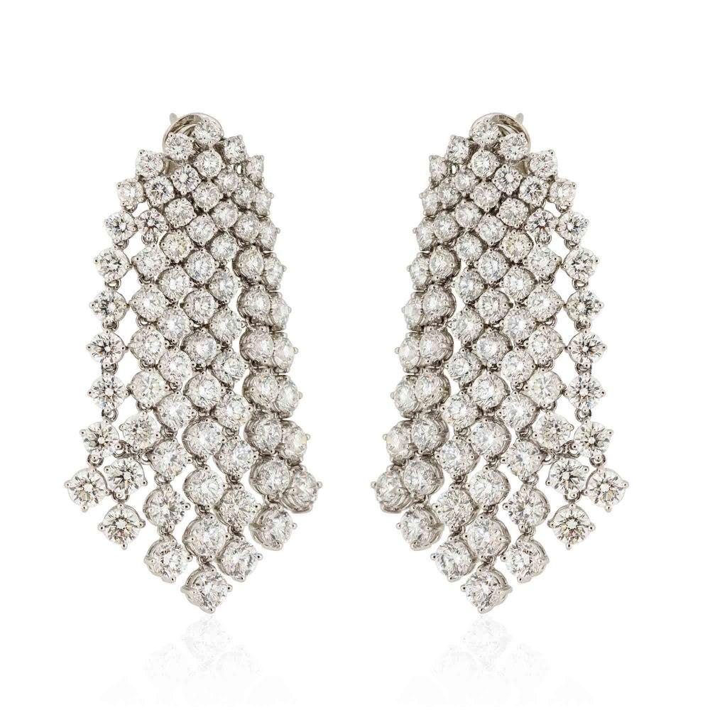 KESSARIS Diamond Rainfall Earrings SKE75603