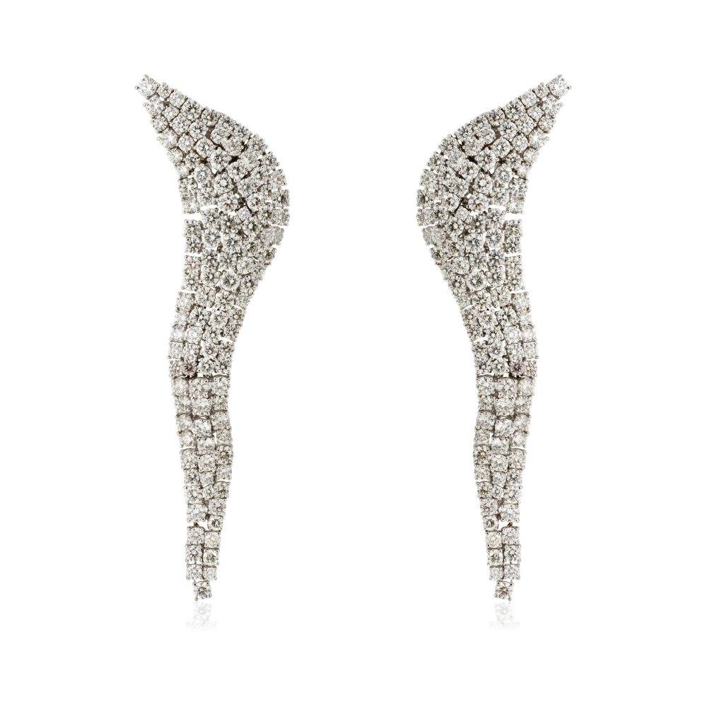 KESSARIS Diamond Waterfall Earrings SKP83348