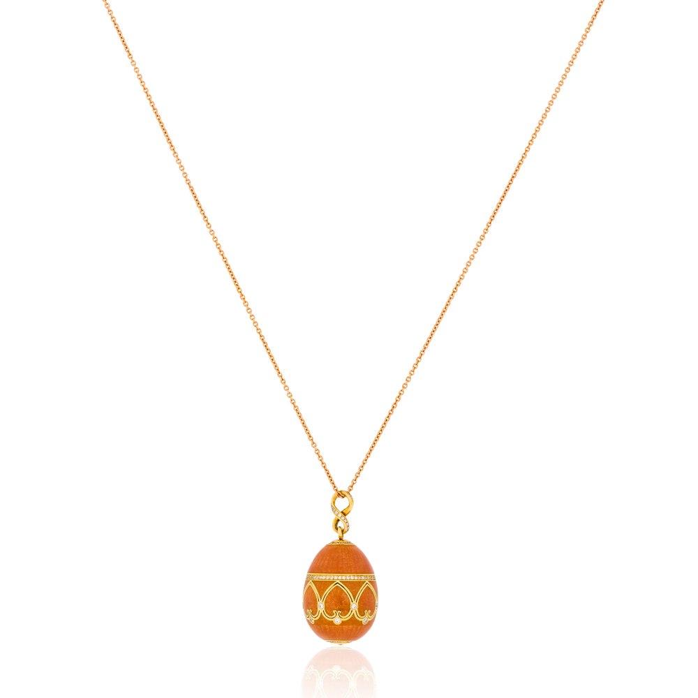 FABERGE Orange Egg Pendant Necklace KOP170648